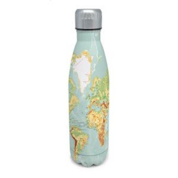 Oferta de Botella doble pared inox mapa 500 ml Nerthus por 14,95€