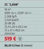 Oferta de Aire acondicionado Bosch por 519€