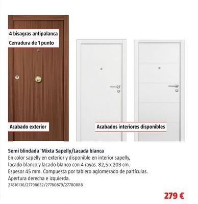 Oferta de Puertas por 279€