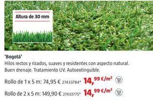 Oferta de Césped artificial por 14,99€