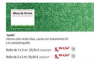 Oferta de Césped artificial por 5,99€
