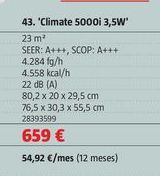 Oferta de Aire acondicionado Bosch por 659€