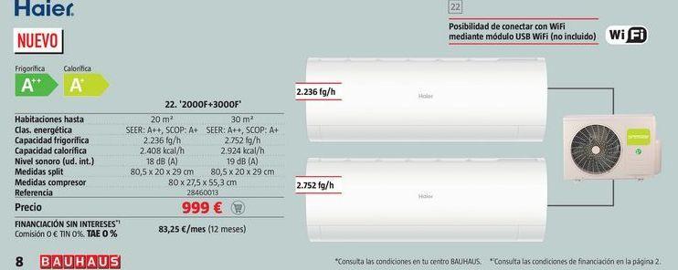 Oferta de Aire acondicionado Haier por 999€