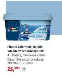 Oferta de Pintura plástica Bruguer por 25,99€