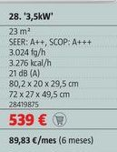 Oferta de Aire acondicionado Bosch por 539€