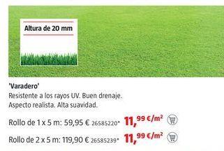 Oferta de Césped artificial por 11,99€