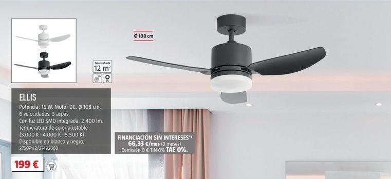 Oferta de Ventilador de techo por 199€