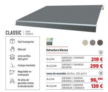 Oferta de Toldos por 219€
