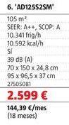 Oferta de Aire acondicionado Haier por 2599€