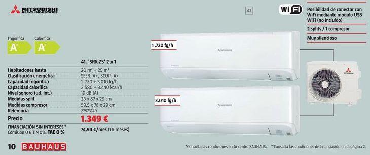 Oferta de Aire acondicionado Mitsubishi Electric por 1349€