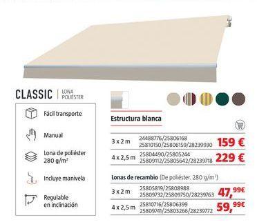 Oferta de Toldos por 159€