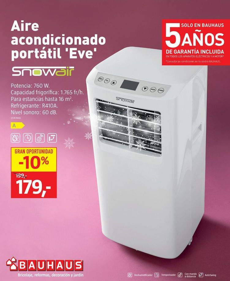 Oferta de Aire acondicionado portátil por 179€