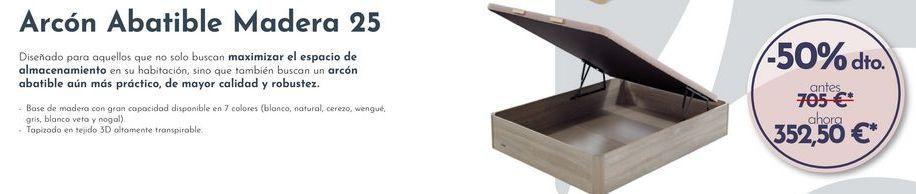 Oferta de Arcón Abatible Madera 25 por 352,5€