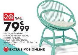 Oferta de Silla de jardin de resina por 79,99€