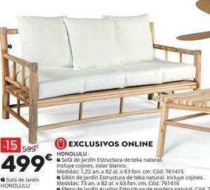 Oferta de Sofá de jardín por 499€