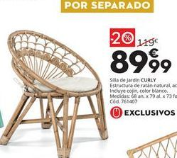 Oferta de Silla de jardín monobloc por 89,99€