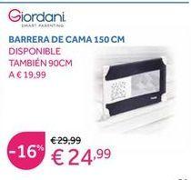 Oferta de Barrera de cama Giordani por 24,99€