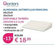 Oferta de Almohada Giordani por 18,99€