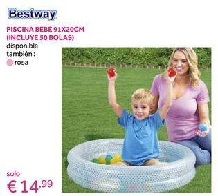 Oferta de Piscina infantil Bestway por 14,99€