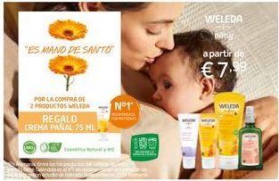 Oferta de Cuidado del bebé Weleda por 7,99€