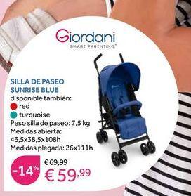 Oferta de Silla de paseo modular Giordani por 59,99€