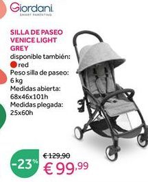 Oferta de Sillas de paseo Giordani por 99,99€