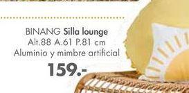 Oferta de Sillas LOUNGUE BINANG  por 159€
