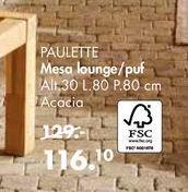 Oferta de Mesa lounge PAULETTE  por 116,1€