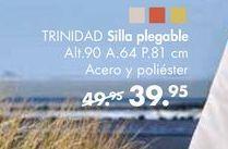 Oferta de Silla plegable TRINIDAD  por 39,95€