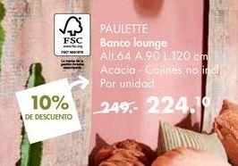 Oferta de Banco lounge  PAULETTE  por 224,1€