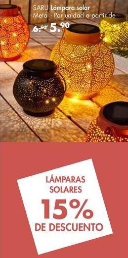 Oferta de Lámpara solar SARU por 5,9€