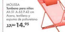 Oferta de Tumbonas para niños MOUSSA por 14,95€