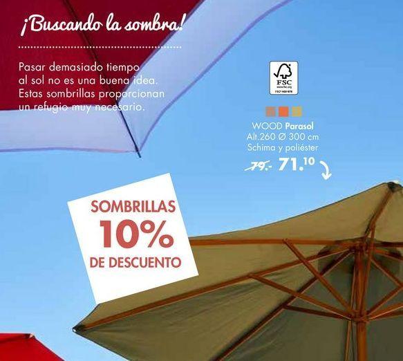 Oferta de Parasol WOOD por 71,1€