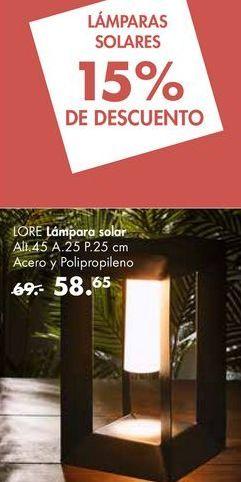 Oferta de Lámpara solar LORE por 58,65€