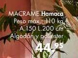Oferta de Hamaca MACRAME por 44,95€