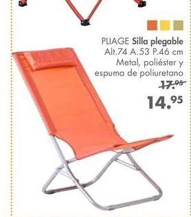 Oferta de Silla plegable PLIAGE por 14,95€