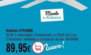 Oferta de Ventilador de techo por 89,95€