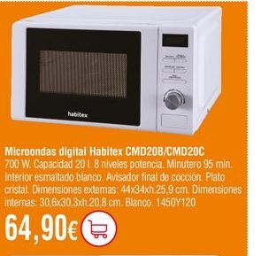 Oferta de Microondas por 64,9€