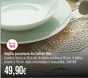 Oferta de Vajilla por 49,9€