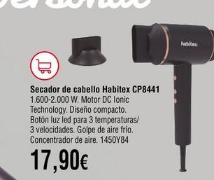 Oferta de Secador por 17,9€