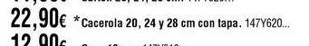 Oferta de Cacerolas por 22,9€
