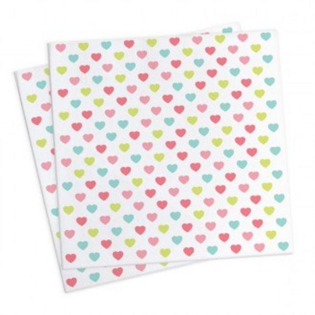 Oferta de 20 servilletas de corazones por 2,76€
