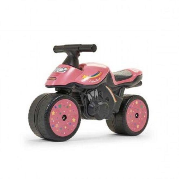 Oferta de Moto rosa con estampado arcoiris por 39,95€