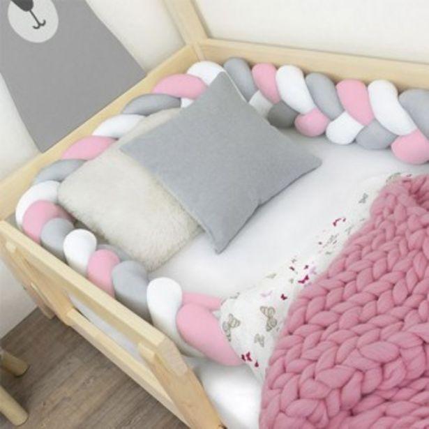 Oferta de Cojín protector en forma de trenza blanco, gris, rosa por 125,9€