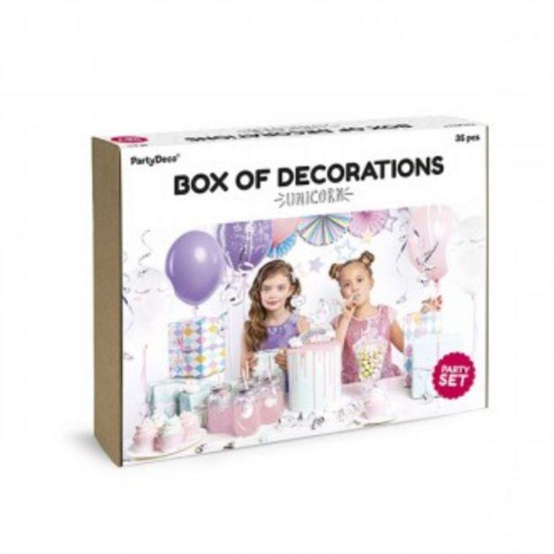 Oferta de Set de decoración unicornios por 24,95€