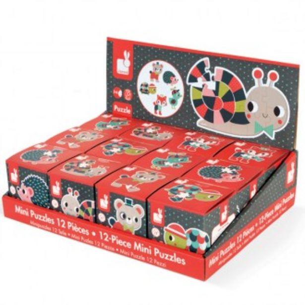 Oferta de Mini puzzle baby forest 12 piezas 6 modelos por 3,96€