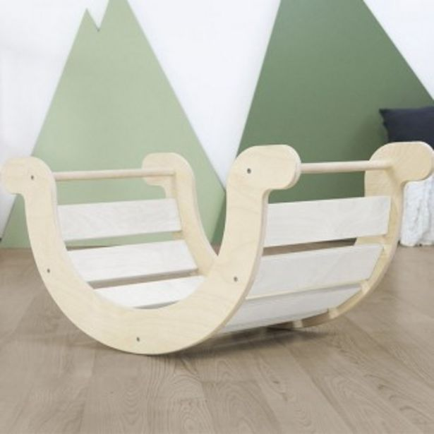 Oferta de Columpio balanceo montessori yupee blanco por 239,89€