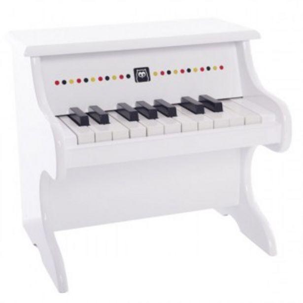 Oferta de Piano blanco de madera por 59,96€