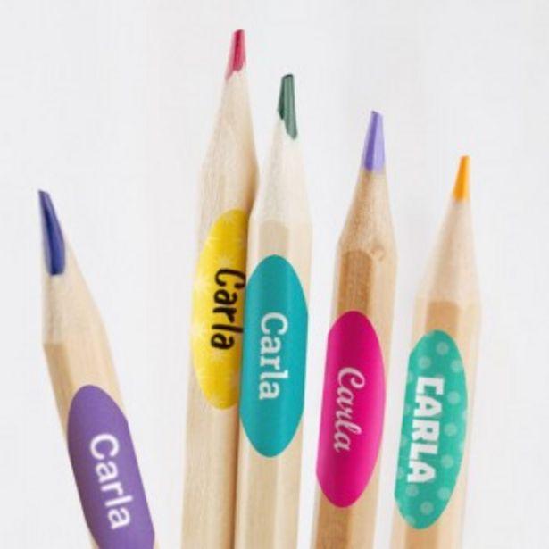 Oferta de Etiquetas para lápices escolares por 9,45€