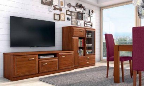Oferta de Mueble de salón nogal ideal espacio reducido por 886€